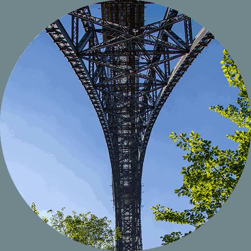Der Brückenbogen der Müngstener Brücke